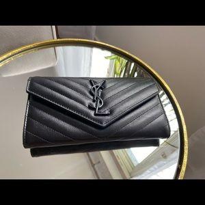 Saint Laurent YSL Monogram Large Flap Wallet